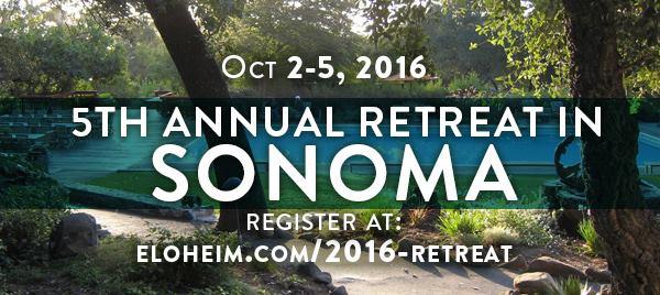 Come to our 5th annual retreat in Sonoma!