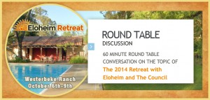 Discuss your experiences of the 3rd annual retreat with Eloheim!